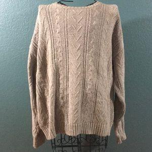 Men's Woolrich Beige/Brown Long Sleeve Sweater